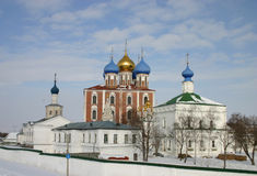 Rusland Ryazan het Kremlin Stock Foto