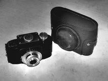 Rusland samara 30 april, 2017 De oude firma van de filmcamera van de verandering op een retro beeld stock fotografie
