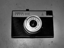 Rusland samara 30 april, 2017 De oude firma van de filmcamera van de verandering op een retro beeld stock afbeelding