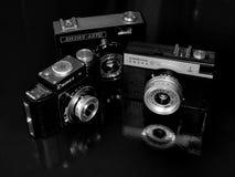 Rusland samara 30 april, 2017 De oude firma van de filmcamera van de verandering op een retro beeld stock foto