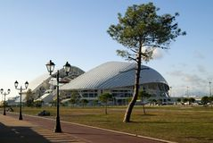 RUSLAND, SOCHY - 24 SEPTEMBER, 2017: Fisht Olympisch Stadion Royalty-vrije Stock Foto's