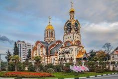 Rusland, Sotchi, 6 December, 2015: De Kerk van St Prins Vladim Stock Foto's