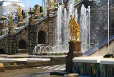 Rusland, St Petersburg, Peterhof Stock Afbeeldingen