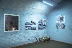 Rusland, St. Petersburg, Priozersk, Augustus 2016: De expositie in het militaire museum zet Filin op Royalty-vrije Stock Afbeeldingen