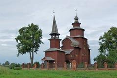 Rusland. Stad van Rostov Groot. Houten Kerk royalty-vrije stock foto
