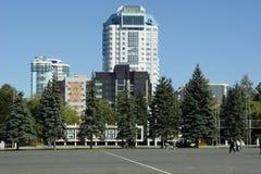 Rusland, stad van Samara, Kuibyshev-vierkant royalty-vrije stock afbeeldingen
