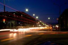 Rusland. Stad Volzhsk. Nacht. Royalty-vrije Stock Foto's