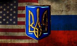 Rusland tegen de V.S. Stock Afbeelding