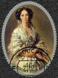 RUSLAND - 2011: toont Keizerin Maria Alexandrovna 1824-1880, portret door Franz Xaver Winterhalter Stock Foto's