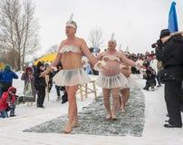 Rusland, Uglich, 07 Februari Het festival van stock afbeeldingen