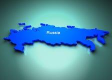 Rusland van de Kaart van de Wereld Stock Foto's