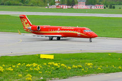 Rusline Airlines Bombardier Canadair Regional Jet CRJ-200 aircraft in Pulkovo International airport in Saint-Petersburg, Russia Stock Photo
