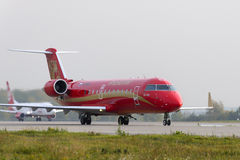 Rusline Airlines Bombardier Canadair Regional Jet CRJ-200 Royalty Free Stock Photo
