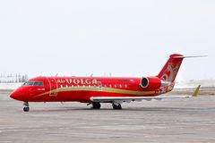 RusLine Canadair Regional Jet CRJ-200ER Stock Photography