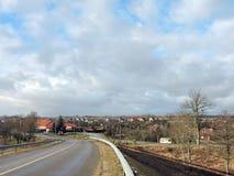 Rusne city, Lithuania Stock Image