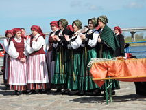 Rusne town celebrate, Lithuania Stock Image