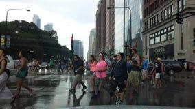 Rusningstid i Chicago Fotografering för Bildbyråer