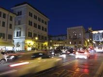 Rusningstid i Rome Italien Arkivfoto