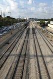 Rusningstidjärnväg Royaltyfria Bilder