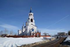 ` Ruso Dormition de la iglesia ortodoxa del ` de Theotokos Fotografía de archivo