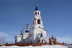 ` Ruso Dormition de la iglesia ortodoxa del ` de Theotokos Fotos de archivo