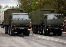 RUSO, KOZELSK, el 9 de mayo de 2017, Victory Day, el 9 de mayo Para militares Imágenes de archivo libres de regalías