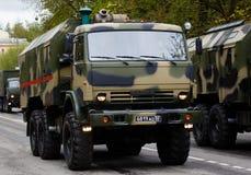 RUSO, KOZELSK, el 9 de mayo de 2017, Victory Day, el 9 de mayo Para militares Fotos de archivo