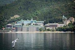 Ruso Panteleimon Monastery Imagenes de archivo