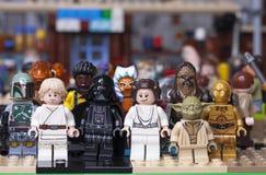 RUSO, SAMARA - 24 DE ENERO DE 2019 Lego Star Wars Caracteres de Minifigures Star Wars fotos de archivo libres de regalías