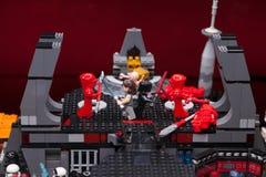 RUSO, SAMARA - 8 de febrero de 2019 Lego Star Wars Minifigures Star Wars - guardia de Preatorian de la ?lite fotografía de archivo libre de regalías