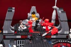 RUSO, SAMARA - 8 de febrero de 2019 Lego Star Wars Minifigures Star Wars - guardia de Preatorian de la ?lite fotos de archivo libres de regalías