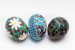 Ruso tradicional colorido Ester Eggs Imágenes de archivo libres de regalías
