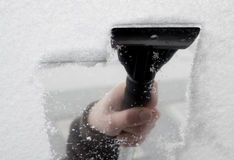 Ruspa spianatrice del ghiaccio Immagini Stock Libere da Diritti