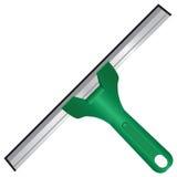Ruspa spianatrice per le finestre di pulizia Immagine Stock