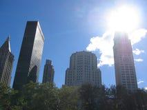Ruspe spianatrici del cielo di New York Fotografie Stock Libere da Diritti