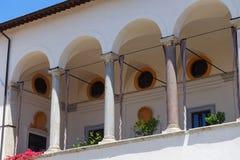 Ruspoli宫殿在切尔韦泰里 库存照片