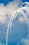 Russ display team demonstrates aerobatics Stock Photos
