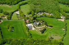 Russ Hill, Surrey, visión aérea Foto de archivo