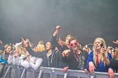Russ muzyki na żywo przyjęcie przy Fredriksten kasztelem w Halden Norwegia fotografia stock