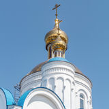 Russain church close view with a blue sky Stock Photography