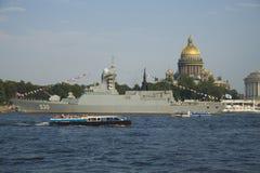 The Russain Navy day Stock Photos