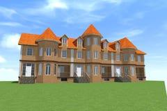 Russe de la maison 3D Images stock