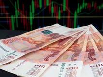 Russe fünf Tausenderubelbanknoten Lizenzfreies Stockbild