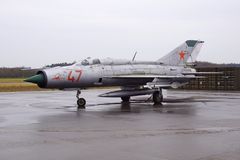 Russe Mikoyan Gurevich MiG 21PFM Fishbed 47 Stockfoto