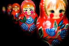Russe national de matroschka de babushka image stock