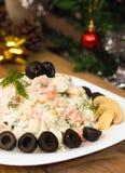 Russe-Olivier-Salat auf Sylvesterabend Lizenzfreie Stockbilder