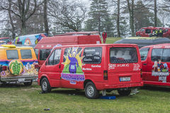 Russe spotkanie przy Fredriksten fortecą 2015 (kraje spotyka) (samochód) Fotografia Stock