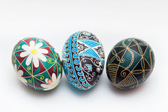 Russe traditionnel coloré Ester Eggs Images libres de droits