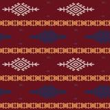 Russe-, ukrainisches und skandinavischesnationales Knitmuster, nahtlose Vektorillustration Stockbild