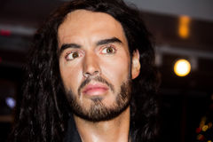 Russel Brand wax figure Royalty Free Stock Photos
